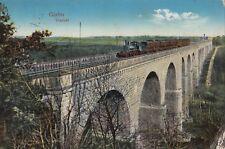 AK courrier militaire Locomotive à vapeur sur le pont Görlitz viaduc pris 1917 (