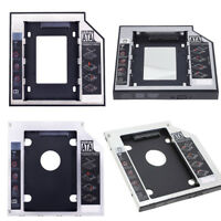 Aluminum DIY HDD Bracket Hard Drive Caddy CD/DVD-ROM Optical Bay SATA 2nd SSD
