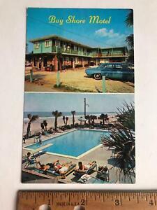 Vtg Bay Shore Motel North Ocean Blvd Myrtle Beach South Carolina SC old Postcard