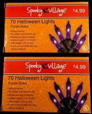 Halloween string lights - indoor/outdoor - purple bulbs - 2 boxes of 70 - NIB