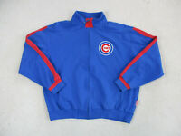 Majestic Chicago Cubs Sweater Adult Extra Large Blue Red MLB Baseball Mens *