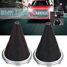 PU Leather Gear Shift Stick Lever Boot Cover For Suzuki Swift SX4 Black / Red