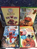 Elmo's World Pets 4 DVD Lot See Pics! Young Kids Furry Red Monster, 2 Hands PLUS