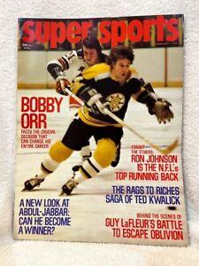 VINTAGE Feb 1974 Super Sports Magazine, Bobby Orr Cover, Boston Bruins, NICE!!