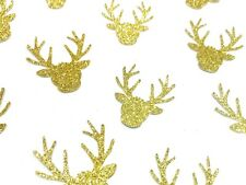40 x Glitter Gold Rudolf the Red Nose Reindeer Christmas/Xmas Table confetti