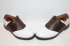 Adidas Saddle Ritual 677247 White/Coffee Golf Shoes Sz 10