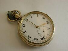 Condición encantadora Vintage 1920 rellena de oro cara abierta de Reloj de bolsillo