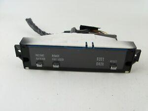 OEM 1984-1985 Cadillac Seville Fuel Gas Data Reset Panel Module