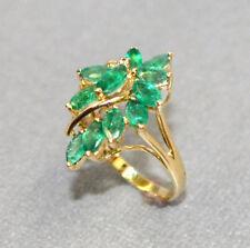 Vintage Estate Emerald & 14K gold Dinner Ring, Stunning!