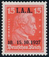 DR 1927, MiNr. 408 I, tadellos postfrisch, Fotoattest Schlegel, Mi. 800,-