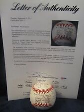 """""""A League of Their Own"""" Multi Autographed ONL (White) Baseball - Full PSA LOA"""