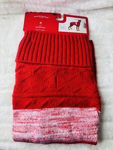 New Wondershop Dog Sweater Vest Red / White Medium Free Shipping
