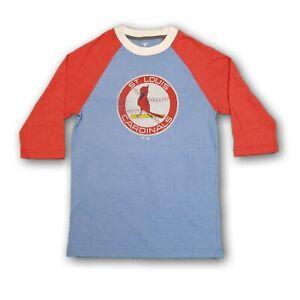 St Louis Cardinals MLB Fanatics Men's 3/4's Blue/Red T-shirt