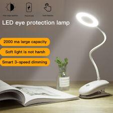 Eye Care LED Flexible USB Reading Light Touch&Clip On Bedside Table Desk Lamp AU