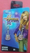 Childrens GIRLS Hannah Montana DISNEY Genuine Crystal GUITAR Earrings New NICE