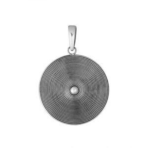 Designer Handmade Spiral CIRCLE pendant in 925 Sterling Silver