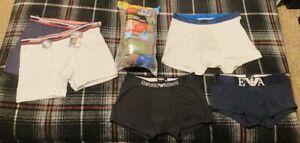 Men's size L boxer briefs, trunks, Hanes, Emporio Armani & Jockey underwear lot