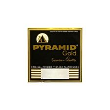 Pyramid Gold 12-String, 10-46.5 Pure Nickel Flatwound Guitar Strings