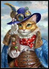 A Well Dressed Cat - DIY Chart Counted Cross Stitch Patterns Needlework DMC