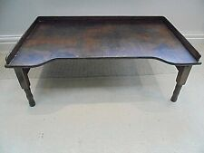 More details for vintage folding wooden bed tray, 1920s 30s, laptop, breakfast in bed