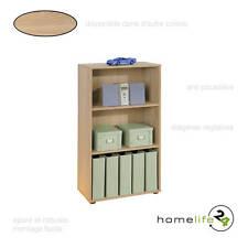 Très belle étagère simple avec 3 niveaux Sonoma chêne pour le rangement