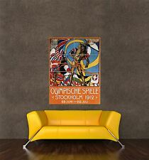 GIANT PRINT POSTER SPORT AD OLYMPIC GAMES STOCKHOLM SWEDEN 1912 PDC069