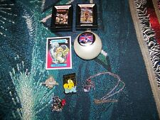NEW NOS Vintage IRON MAIDEN Lot Zippo Pewter Pin Badges Necklace Ornament Card