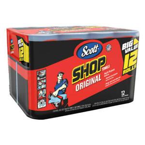 SCOTT Professional Multi Purpose Shop Paper TOWELS 12 Rolls 55 Sheets ROLL 12 ct