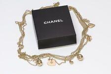 CHANEL CC Heart Camellia Egg Charm Chain Belt