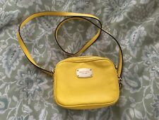 MICHAEL KORS Citrus Yellow Leather Small HAMILTON Crossbody Purse Bag-VERY NICE