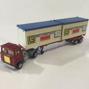 MATCHBOX SUPERKINGS K17/23 RED SCAMMELL TRACTOR/TRAILER GENTRANSCO 1:43 ENGLAND