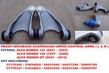 ALFA ROMEO 147, 156 & GT (1997-2010) Anteriore Superiore Sospensione Braccio Oscillante Set Di Armi