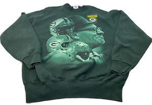 Vintage Green Bay Packers Vince Lombardi Sweatshirt Pro Player NFL Size XL 1997