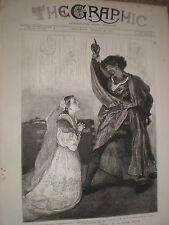 Henry Irving Isabel Bateman Othello Lyceum THEATRE 1876 stampa RF V