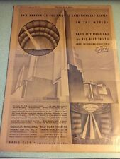 Radio City Music Hall Roxy New York Times Rockefeller Center Poster Rockettes 32