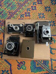 Vintage 5 Camera Lot-zeiss/kodak/polaroid/argus