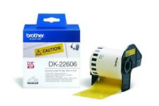 Brother DK Labels DK-22606 (62mm x 15.2m) Continuous Yellow Film Tape