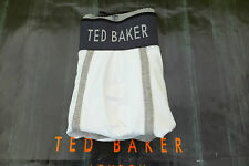 TED BAKER Boxer Shorts PLAIN White MOULDED Trunk Size-S Cotton Underwear NEW
