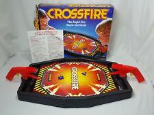 Vintage Crossfire Game 40 Steel Balls 2 Targets Milton Bradley