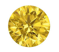 2ct 8mm Round FANCY YELLOW  Synthetic Stone Outshines Diamond and Moissanite!