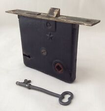 Antique Working Mortise Star Lock With Key Door Hardware Salvage