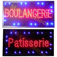 PANNEAU ENSEIGNE LUMINEUSE A LEDS BOULANGERIE / PATISSERIE POUR COMMERCANT PUB