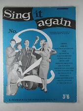 Sing It Again No. 2 BBC 1961 Music & Lyrics to 16 Songs
