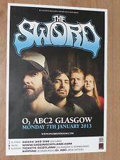 The Sword - Glasgow jan.2013 tour concert gig poster