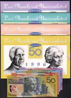 1996 $5,10,20,$50 Deluxe - Low numbered NPA Folders. Matching Black Serials 4968