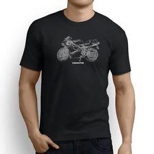 DUCATI 748 inspirado Motocicleta Arte para hombre Camiseta