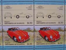 1960 PORSCHE 356 356B Cabriolet Car 50-Stamp Sheet Auto 100 Leaders of the World