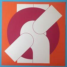 Friedrich GRÄSEL (1927) Lithographie Originale 1967 signée 54x54cm Op Art
