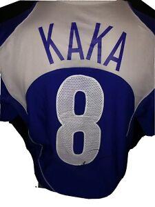 Signed Rare Brazil Away Shirt By Kaka Ac Milan Numbered Nike
