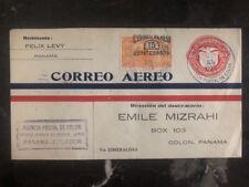 1929 Colon Panama First Flight Cover FFC To Esmeraldas Ecuador Emile Mizrahi